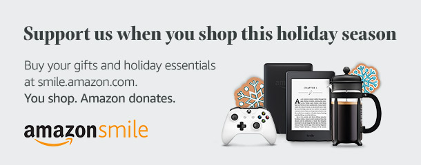 Shop for everyone on your gift list this holiday at smile.amazon.com/ch/36-4065840 and Amazon donates to Greyhounds Only, Inc.